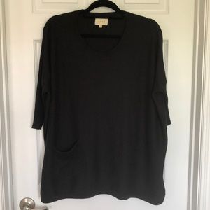 SHAE dolman sleeve black sweater size small
